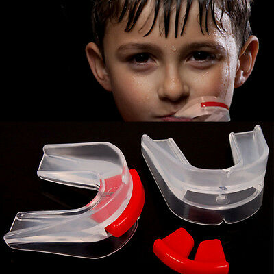 Silicone Sports Boxing Clear Mouth Piece Gum Shield Teeth Guard for Boxing New