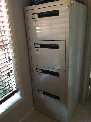 Used 4 Drawer Steel Filing Cabinet With Hanging Folders