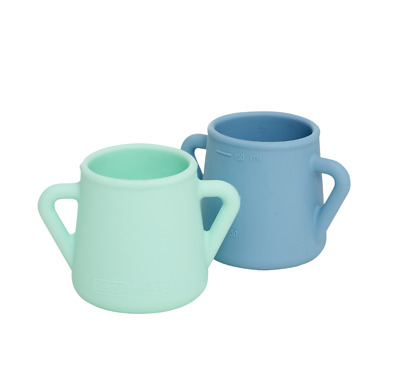NEW WeanMeister Sippy Skillz Training Cup - Turquoise & Teal