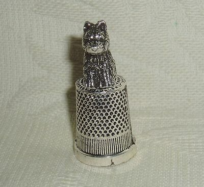 """Russian Сollectible Decorative Metal alloy Thimble """"Dog"""""""