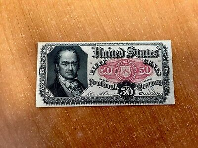 1875 US Fractional Currency - FR1381 50 Cents, William H. Crawford - Circulated*