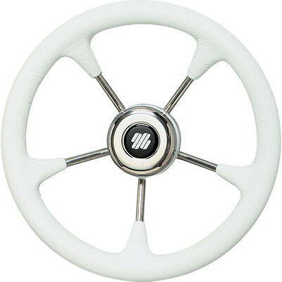 Boat Steering Wheel SS with White Grip 320mm Diameter Non Magnetic Wheel