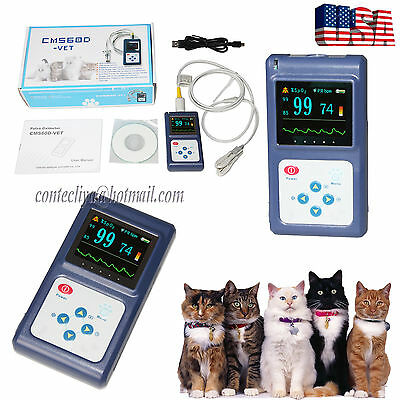 Veterinary pulse oximeter Handheld SPO2 Pr monitor Vet Tongue Probe+SW,US Seller