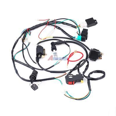Full Electric Start Engine Wiring Harness Loom For 50 125cc Atv