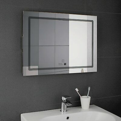 LED Rectangular Glass Bathroom Mirrors With Bluetooth Wall Hung 600 800mm B57