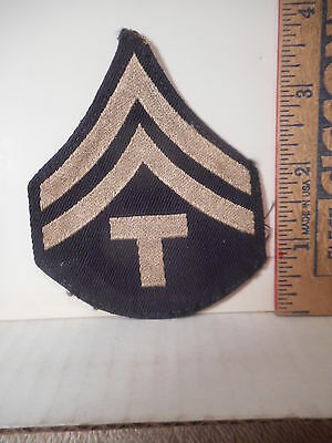 United States Army Technician Fifth Grade Rank Patch,  Pre 1948   719TB.