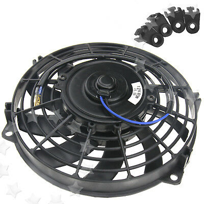 9 Inch 12V Radiator Fan 80W Cooling Cooler Fan w/Mounting Kit For Universal Car