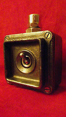 "Vintage Industrial Light Switch ""Britmac"" Cast Iron Retro Rare"