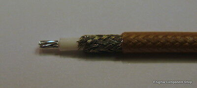 Rare RG316, 25 Ohm High Power RF PTFE Coax Cable. Ham Radio. UK Seller.