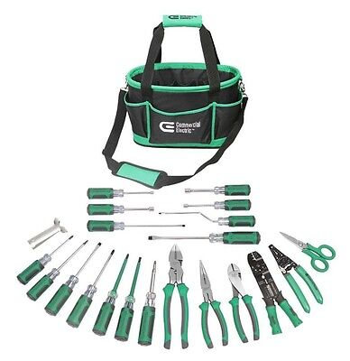 Electrician's Tool Set 22-Piece Commercial includes tool bag great for travel