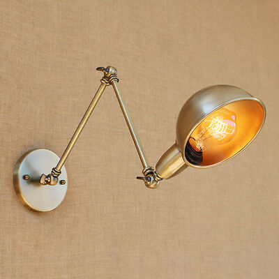6 Colours Swing Long Arm Sconce Lights Brass Wall Lamp Lights Lighting Fixtures
