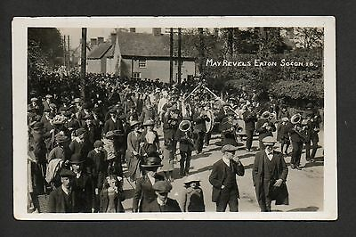 Eaton Socon - May Revels - real photographic postcard