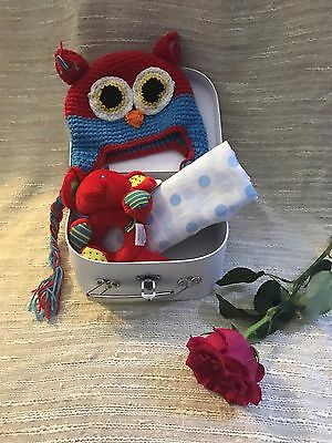 Welcome New Baby Gift Christening Present Suitcase Box Boy 36