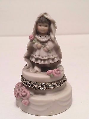 Kim Anderson Alaska Momma Promises of Love Hinged Trinket Box #323799 Enesco