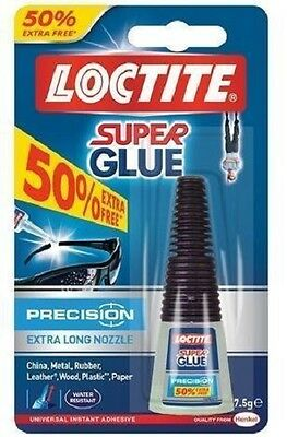 Loctite Super Glue Precision Water Resistant 5g +50% extra free 7.5g Long Nozzle
