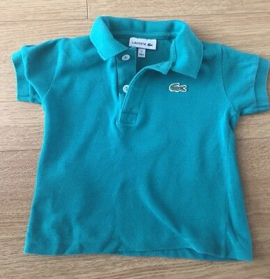 Lacoste Green Polo Shirt Boys Size 1 - 74cm