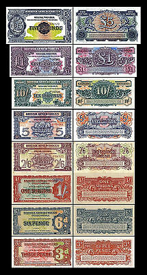 2x 3 Pence - 5 Pounds - BRITISH ARMED FORCES - Issue ND 1948 - 2nd Series - 17