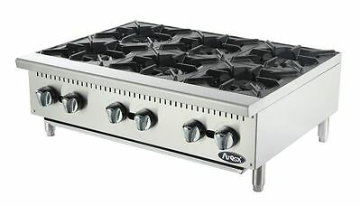 New 6 Burner Heavy Duty Commercial Countertop Gas Hot Plate Avail. In Nat / Lp