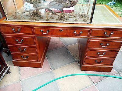 Partner Desk - Reproduction with matching filing cabinet