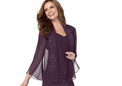 R&M Richards Long beaded Sleeve Jacket ONLY Size 16 # N 104