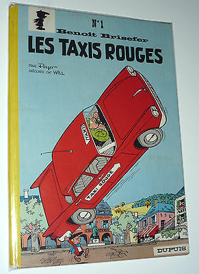 Benoit Brisefer N° 1 Les Taxis Rouges Peyo Will Dos Rond 1962 Eo Tres Rare