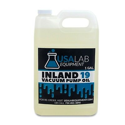 Inland 19 Vacuum Pump Oil 1 Gal for Welch, Edwards, Leybold, Alcatel , Varian.