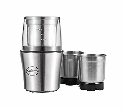 Premium 200 Watt Electric Coffee & Spice Grinder By Cookhouse: Professional