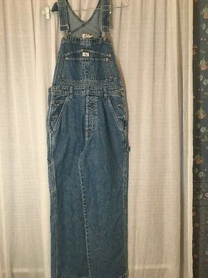 Vtg 90s Calvin Klein Carpenter Sz S Denim Cotton Bib Overalls Waist 32/inseam 30