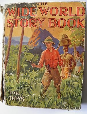 The World Wide Story Book for Boys circa 1937 Vintage Annual