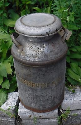 Vintage Findeisen Ice Cream Milk Dairy Can Beautiful Rusty Patina COOL With Lid
