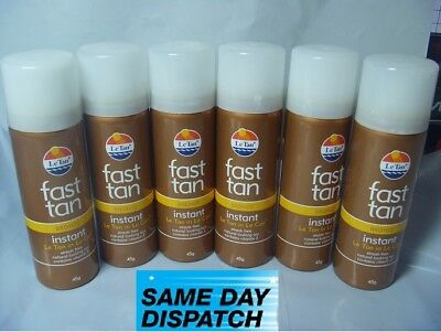 LE TAN FAST TAN INSTANT NO STREAK BRONZE 45gm SPRAY LE CAN Choose   3, 4, 5, 6