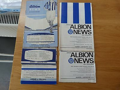 West Bromich Albion Football Programmes 1960's (5)