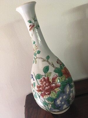 Finest Chinese Porcelain Bottle Vase Multi Color Glaze hand painted
