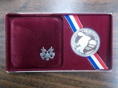 1983-S Olympic Games Proof Silver Dollar With Display Case