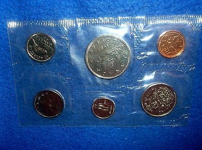 1987 Royal Canadian Mint Proof Like Set of 6 Uncirculated Coins Free Shipping