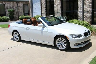 2013 BMW 3-Series Base Convertible 2-Door Mineral White Premium Convenience Navigation Heated Seat BMW Warranty Immaculate