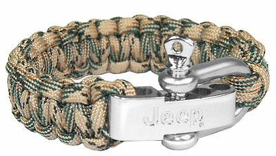 Jeep Branded Wristband Bracelet With Steel Clip New Genuine Med/Large 6001099349