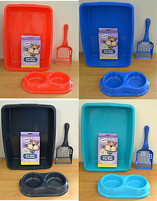 Cat Kitten Starter Kit Set / Kitten Starter Pack with Litter Tray 40cm - UK MADE