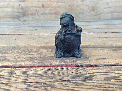 Vintage Cast Iron Advertising Turtle in a Hat Paperweight