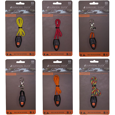 Survival Duck Mini Zip Distress Whistle EDC Outdoor Christmas Stocking Filler