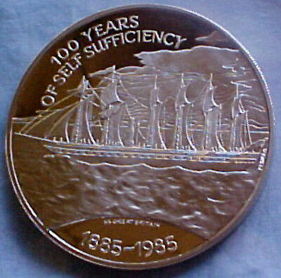 Falkland Islands  25 Pound Silver Coin 100 Years Self Sufficiency Royal Mint