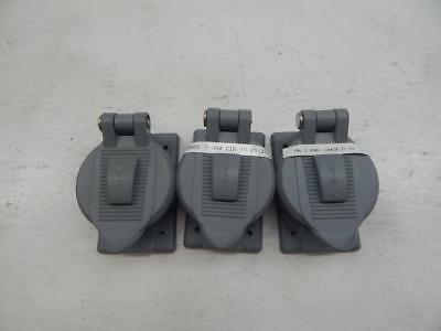hubbell P-5259 lift cover plate lot of 3