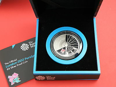 2012 Royal Mint SILVER PROOF £5 CROWN COIN c/w Box & CoA - LONDON PARALYMPIC