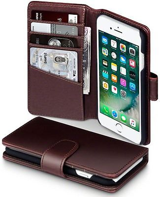Genuine Leather Wallet Cases For iPhones with Card Holders