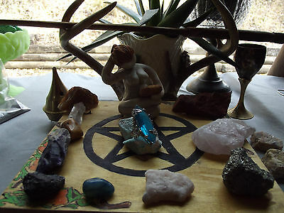 Witch Owned Blue Wand Size 9 NWOT Ring  Healing Deep Meaning