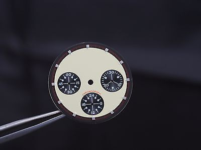 Dial for Seagul ST1903 movement daytona style 30.5 mm