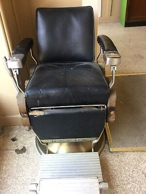1920's-30's Theo A Kochs Barber Chair Great For Restoration Vintage
