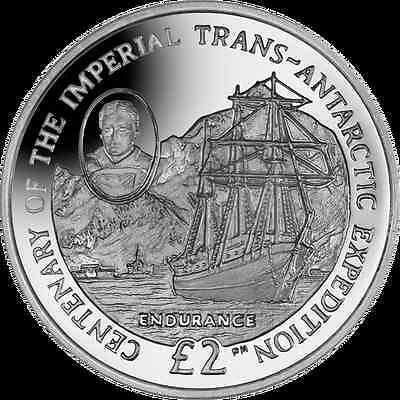 2014 South Georgia & Sandwich Island Trans Atlantic Expedition Silver Proof Coin