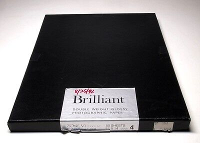 """Zone VI Brilliant Double Weight Glossy Paper (Outdated) 11x14"""" Grade 4"""