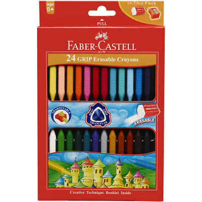 Faber-Castell Grip Erasable Crayons 24 Pack